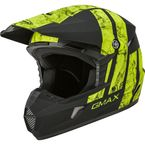 Youth Matte Black/Hi-Vis MX-46Y Dominant Helmet - 72-6614YL