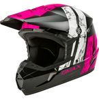 Youth Black/Pink/White MX-46Y Dominant Helmet - 72-6618YL