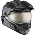 Gray/Black Mission AMS Space Snow Helmet w/Electric Shield - 513464