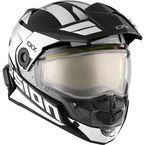 White/Black Mission AMS Space Snow Helmet w/Electric Shield - 513484