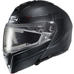 Semi-Flat Black/Dark Gray i90 Devan Modular Snow Helmet w/Electric Shield - 0615-756