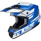 Semi-Flat Blue/White CS-MX 2 Trax MC2SF Helmet - 342-724