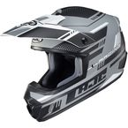 Semi-Flat Gray/Black/White CS-MX 2 Trax MC5SF Helmet - 342-754