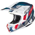 Semi-Flat White/Red/Blue/Gray i50 Vanish MC21SF Helmet - 1314-724