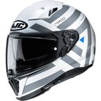 White/Gray i70 Watu MC10 Helmet - 1414-904