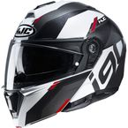 White/Black/Gray/Red i90 Aventa MC1 Helmet - 1616-914