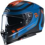 Semi-Flat Blue/Orange/Black RPHA-70 Carbon Reple MC27SF Helmet - 1726-274