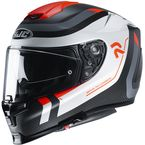 Semi-Flat White/Black/Hi-Viz Orange RPHA-70 Carbon Reple MC6HSF Helmet - 1726-764