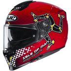 Red/Black/White/Yellow RPHA-70 ST Isle Of Man MC-1 Helmet - 1720-914