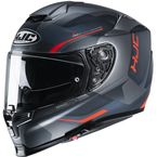 Semi-Flat Black/Gray/Hi-Viz Orange RPHA-70 ST Kosis MC6HSF Helmet - 1722-764