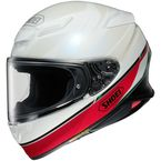 White/Red/Green RF-1400 Nocturne TC-4 Helmet - 0101-1104-06