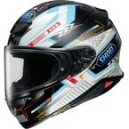 White/Black/Light Blue RF-1400 Arcane TC-10 Helmet - 0101-1210-06