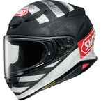 Matte Black/White/Red RF-1400 Scanner TC-5 Helmet - 0101-1305-06