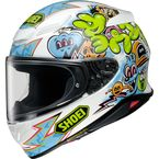 White/Light Blue/Hi-Viz RF-1400 Mural TC-10 Helmet - 0101-1510-06
