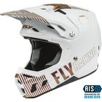 Youth White/Copper Formula CC Primary Limited Edition Helmet - 73-4301YL