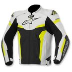 Black/White/Yellow Celer Leather Jacket - 3105015-125-48