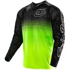 Youth Fluorescent Yellow/Black Starburst GP Air Jersey - 306013524