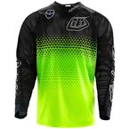 Youth Fluorescent Yellow/Black Starburst GP Air Jersey - 306013523