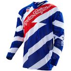 Blue/White/Red Caution SE Air Jersey - 302014133