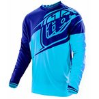 Youth Cyan/Navy Blue Flexion GP Jersey - 309015334
