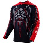 Black/Red/White Pinstripe GP Jersey - 307018204