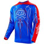 Blue/Red/White Pinstripe GP Jersey - 307018306
