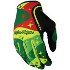 Fluorescent Yellow/Green Cosmic Camo XC Gloves - 428012586