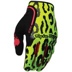 Fluorescent Yellow/Orange/Black Anarchy XC Gloves - 428017406