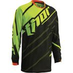 Youth Black/Fluorescent Phase Vented Doppler Jersey - 2912-1326