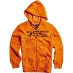 Youth Orange Legacy Zip Hoody - 15996-009-YL