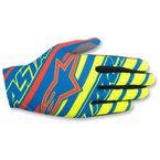 Blue/Yellow/Red Dune Gloves - 3562516-754-L