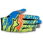 Youth Blue/Lime/Red Racer Braap Gloves - 3541416-783-L