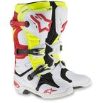 White/Red/Yellow Tech 10 Boots - 201001-236-7