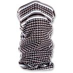 Black/White Houndstooth Fleece Lined Motley Tube - TF235BW
