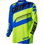 Youth Yellow/Blue Assault Jersey - 14599-586-XL