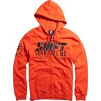 Blood Orange Stockade Zip Hoody - 15729-472-L