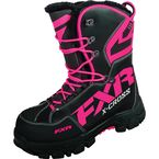 Womens Black/Fuchsia X Cross Boots - 16508
