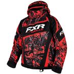 Youth Red/Charcoal/Black Blast Helix Jacket - 16305