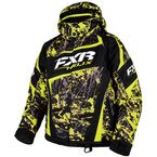 Youth Hi-Vis/Charcoal Blast Helix Jacket - 16305