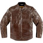 Brown Leather Retrograde Jacket - 2810-2826