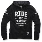 Black Flat Track Fleece - 36010-001-12