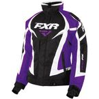 Women's Black/Purple/White Team Jacket - 16206