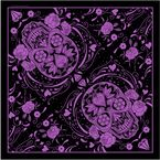 Womens Purple Sugar Skull Bandana - BAB2001
