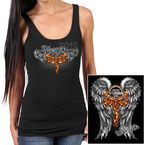Womens Black Sturgis Angel Wing Tank - SPL2380-L
