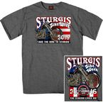 Dark Grey Sturgis King and Queen T-Shirt - SPM1496-L