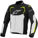 Black/White/Fluorescent Yellow T-GP Pro Air Textile Jacket - 3305116-125-L