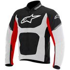 Black/White/Red Viper Air Textile Jacket - 3302716-123-L