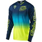Youth Fluorescent Yellow/Navy SE Starburst Jersey - 309013534