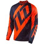 Youth Fluorescent Orange/Navy GP Air Quest Jersey - 309130735