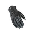 Black Cafe Racer Leather Gloves - 1630-1004